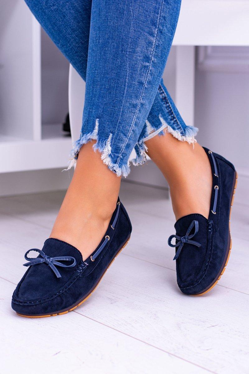bbf8060e33a32 Granatowe Zamszowe Mokasyny Comfort Gucio   Tanie i modne buty ...