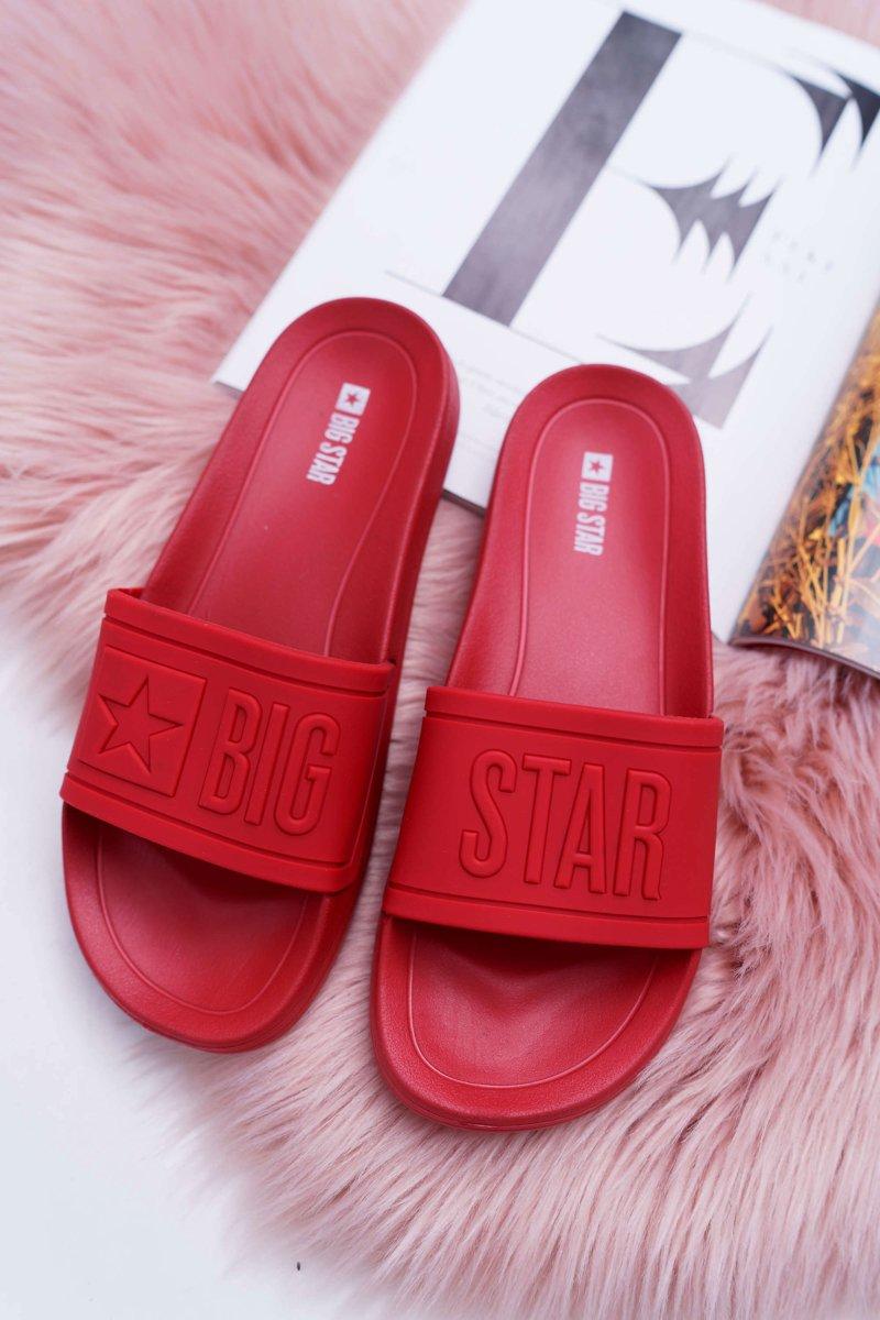 8b9c1f7becbea Klapki Damskie Big Star Czerwone DD274A270 | Tanie i modne buty ...