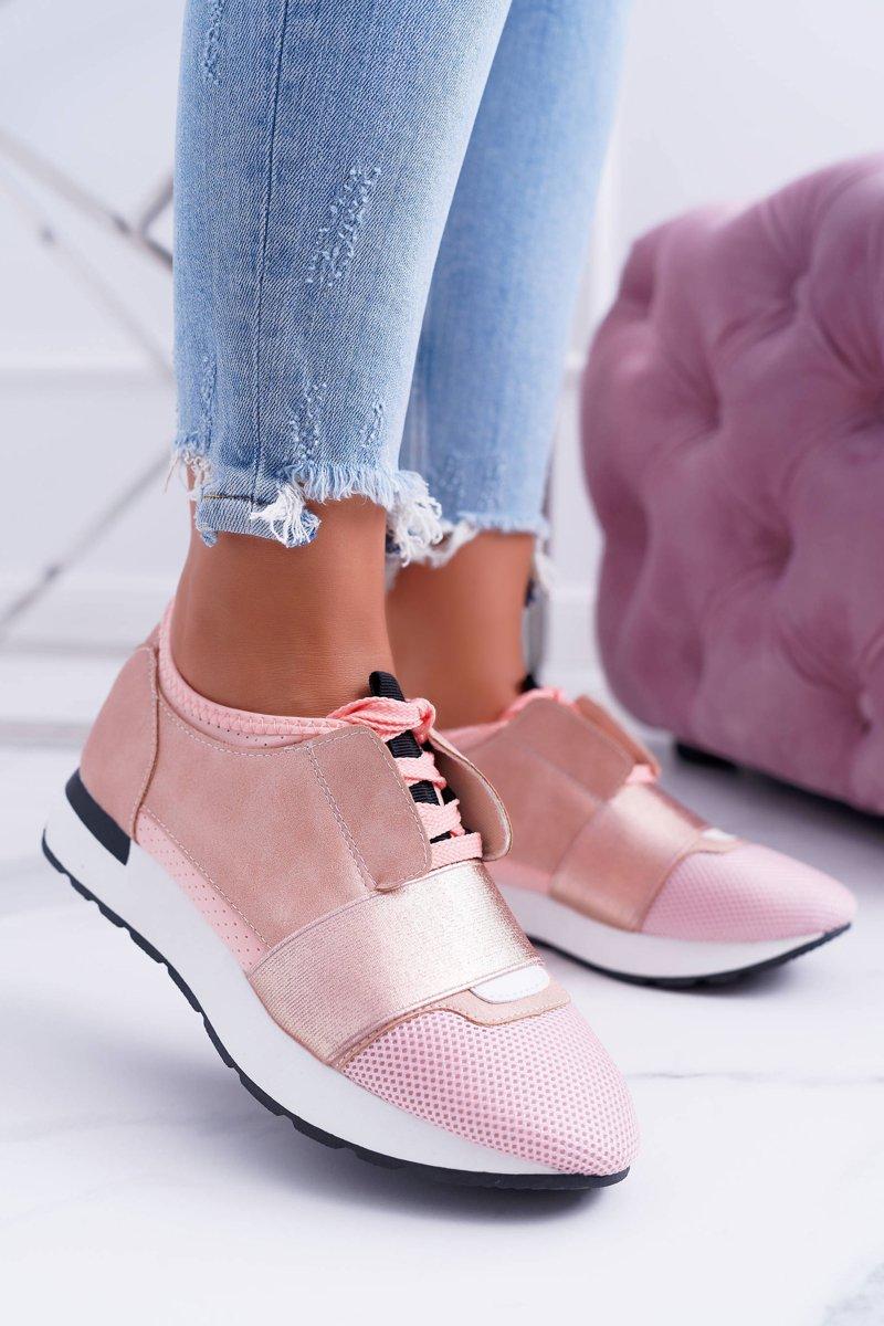 Lu Boo Damskie Różowe Sportowe Buty Madoni   Bugo.pl > buty