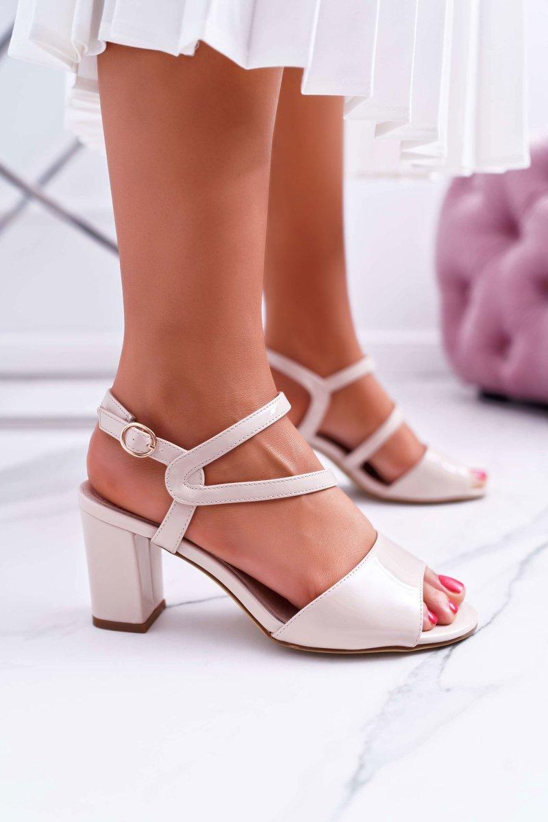 Sandały Damskie Na Słupku
