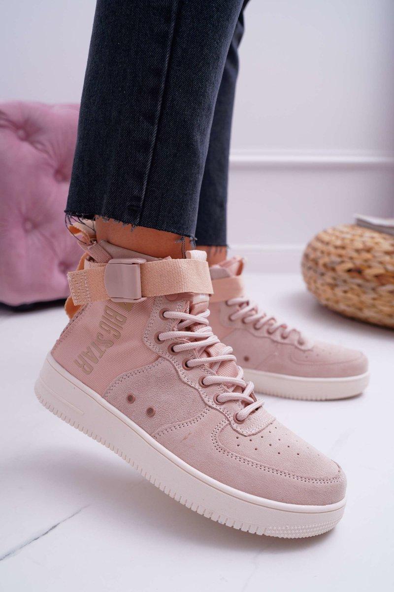 Sneakersy Damskie Trampki Różowe Big Star EE274658