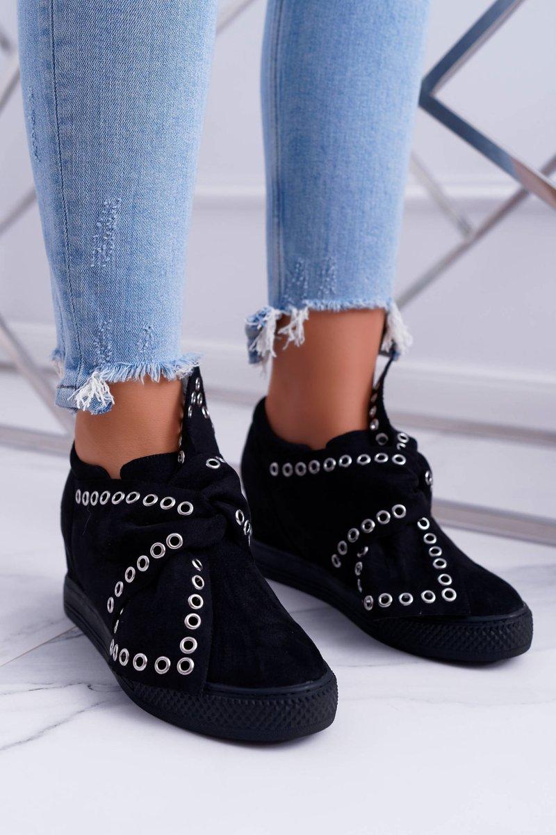 0a6993c5 Sneakersy damskie Koturny LU BOO Czarne Margo | Tanie i modne buty ...