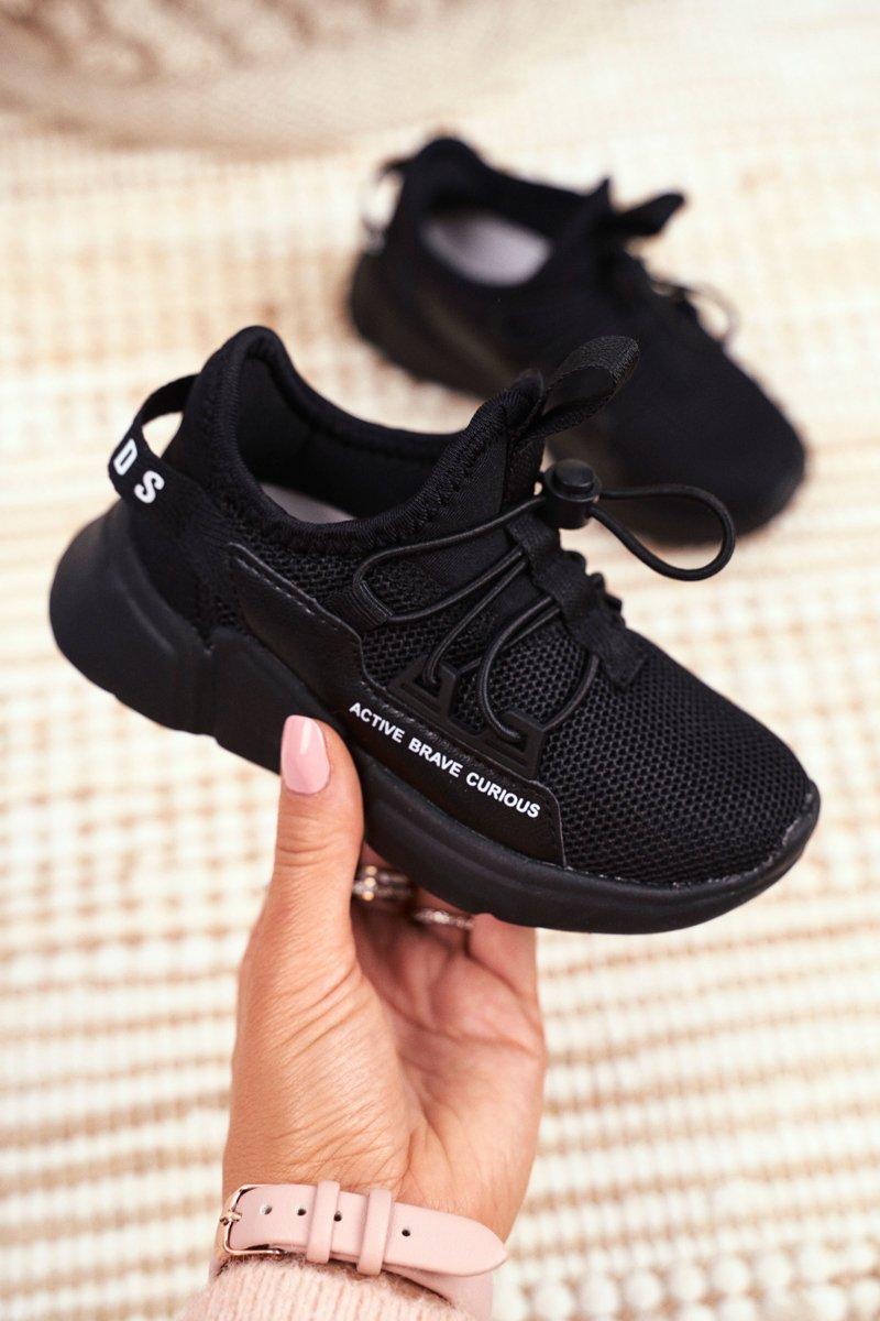 Sportowe Buty Dzieciece Mlodziezowe Czarne Abckids B012210073 Tanie I Modne Buty Online W Butosklep Pl