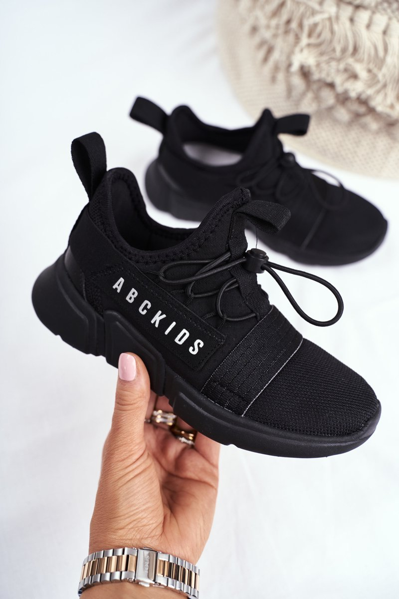 Sportowe Buty Dzieciece Mlodziezowe Czarne Abckids B012310074 Tanie I Modne Buty Online W Butosklep Pl