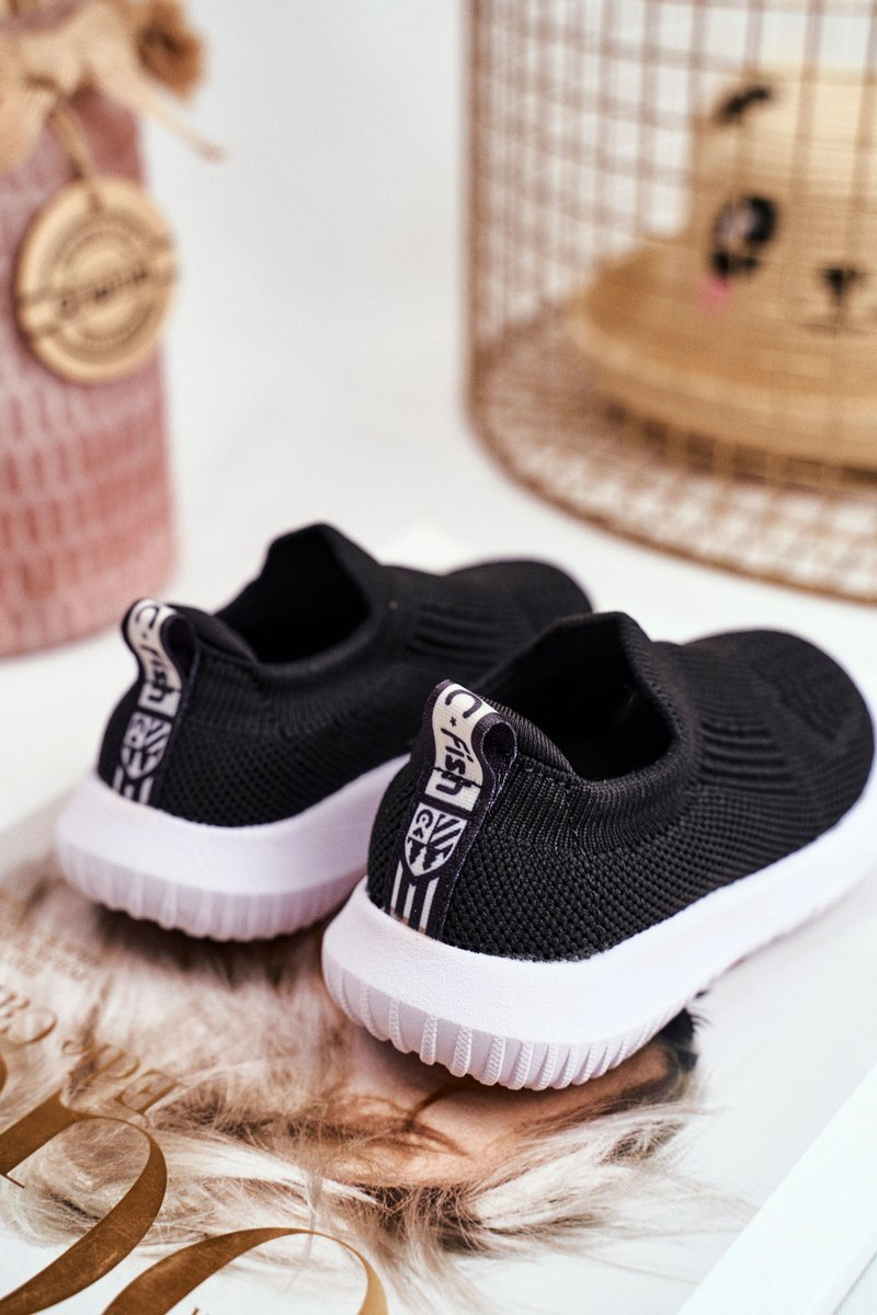 Sportowe Buty Dzieciece Wsuwane Czarne Eltros Tanie I Modne Buty Online W Butosklep Pl