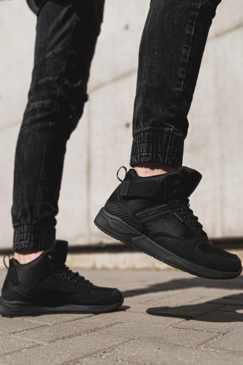 buty męskie czarne wysokie