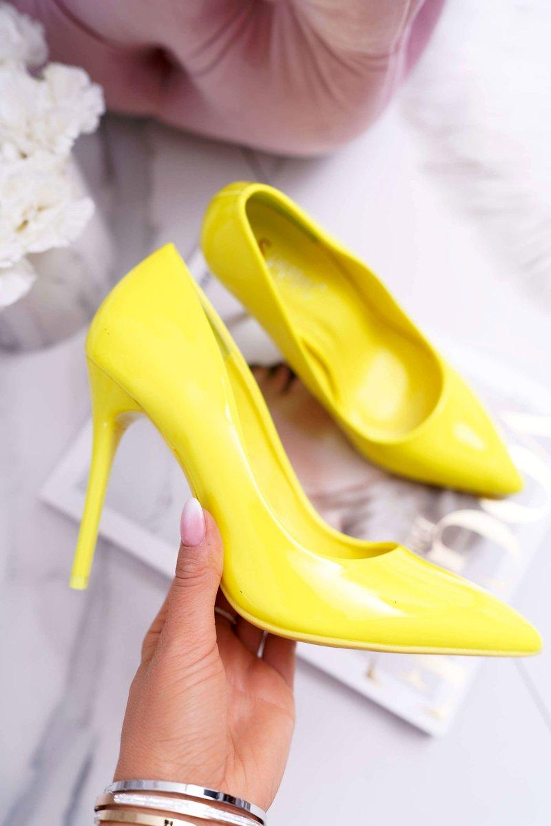 2cefe258e09a22 Szpilki Damskie Żółty Lemon Yanna | Tanie i modne buty online w ...