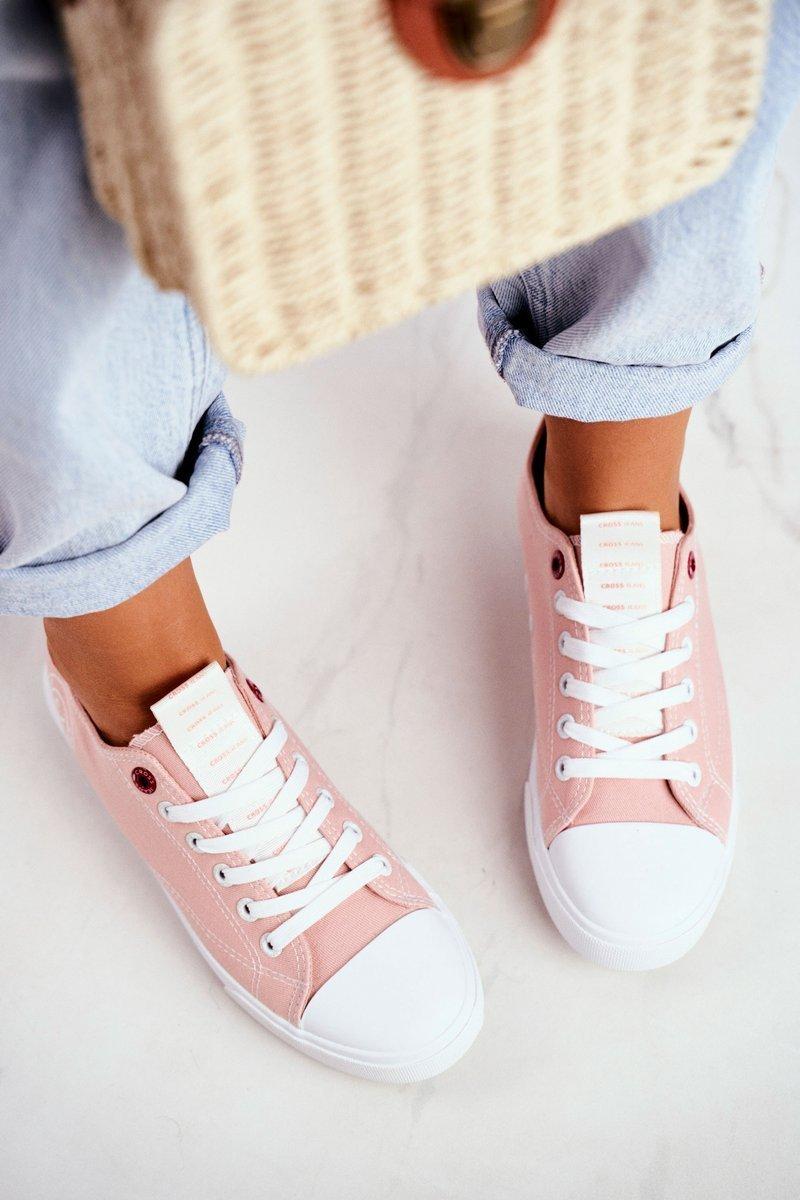 Trampki Damskie Cross Jeans Różowe FF2R4019C